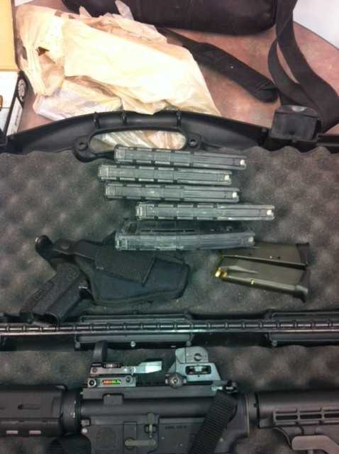 Charles Nadeau is charged with improperly storing a large-capacity firearm near a minor and possession of a large capacity feeding device.