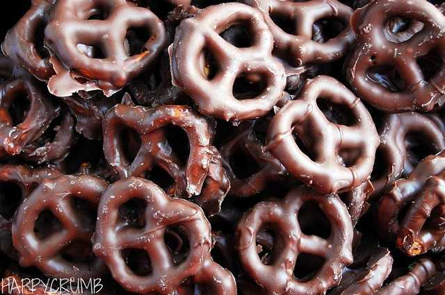 Food he can't live without? Chocolate covered pretzels