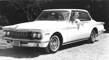 Ed's first car was a white 1962 Dodge Lancer.