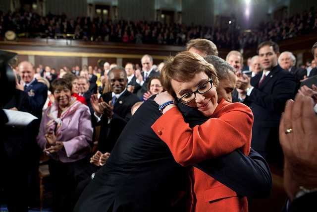 Jan. 24, 2012 -- One of the most memorable moments of the year was when the President hugged Rep. Gabrielle Giffords as he walked onto the floor of the House Chamber at the U.S. Capitol to deliver his annual State of the Union address.""