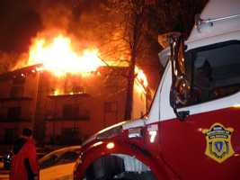 Several residents of the complex were rescued by firefighters and there was at least one injury, which included a young boy.