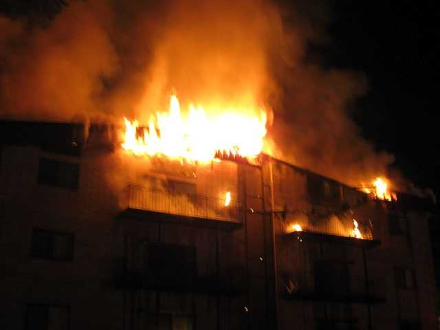 Some residents were rescued from a third-floor balcony after being trapped by heavy smoke, according to the Lowell Sun.