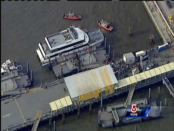 Police and fire officials say 30 to 50 people were injured when a ferry from New Jersey struck a dock during rush hour in lower Manhattan.