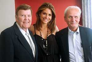 Rex Trailer at Emerson College with Maria Menounos and Peter Chavny.