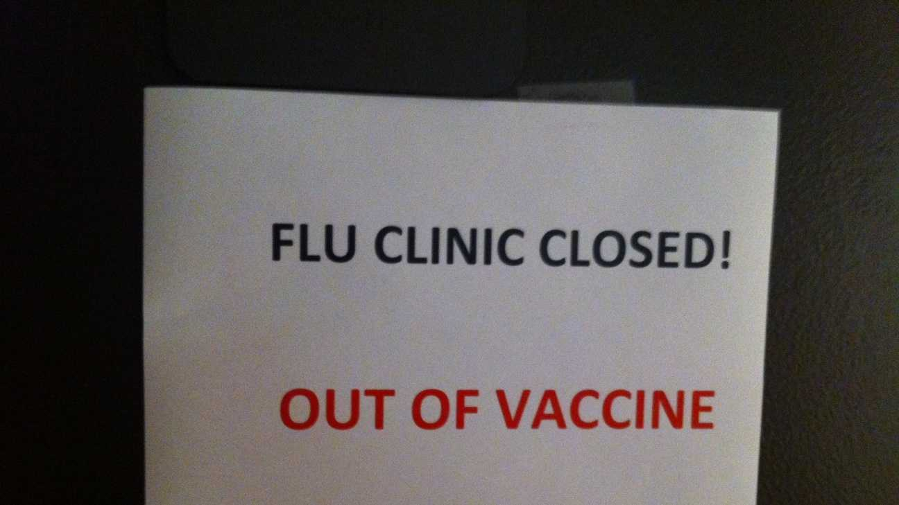 Flu Clinic Out of Vaccine