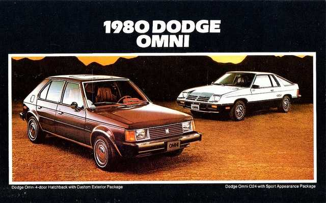 David's first car was a black 1980 Dodge Omni.