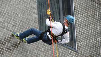 He hasrappelled down the Hyatt to raise money for the Special Olympics ...