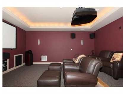 A home theater.