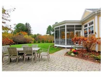 The home sits on just over one acre.