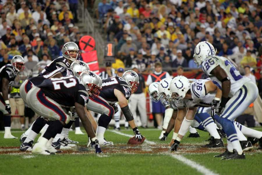 Win #05 - New England's defense dominated the Colts, only allowing 14 points, intercepting 4 passes from Peyton Manning. Brady completed 22 of 37 passes for 237 yards and a touchdown, with 1 interception, and the Patriots moved onto Super Bowl XXXVIII, beating the Colts 24-14.