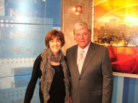 Chet at New England Cable News with the late author Nora Ephron.
