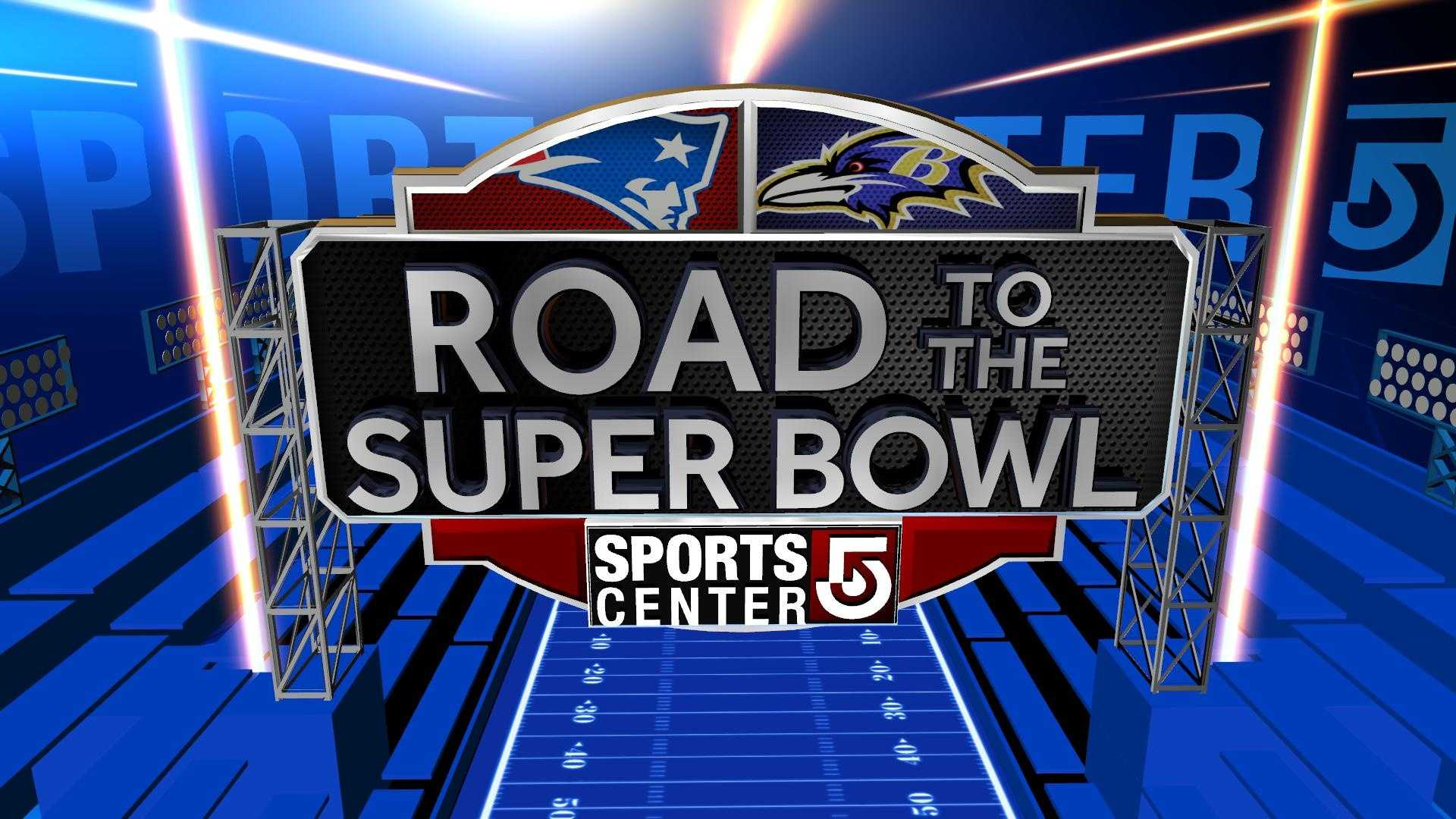 Road To Super Bowl Graphic