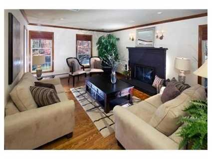 The home has two fireplaces.