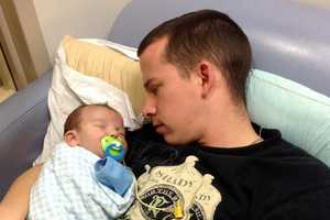 Damien and his dad, Steven Dow, together on Saturday, January 12, 2013.