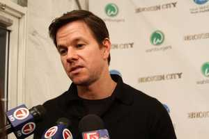 """The stars were out in Hingham Tuesday night for the New England premiere of actor Mark Wahlberg's latest film, """"Broken City."""""""