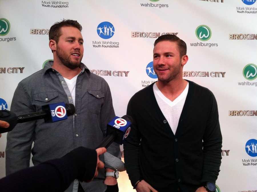 Injured Patriots players Dane Fletcher and Julian Edelman