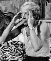 """Conrad Bain was a veteran stage and film actor who became a star in middle age as the kindly white adoptive father of two young African-American brothers in the TV sitcom """"Diff'rent Strokes."""" He was also well-known for his role on """"Maude,"""" which this photo depicts. (February 4, 1923 – January 14, 2013)"""
