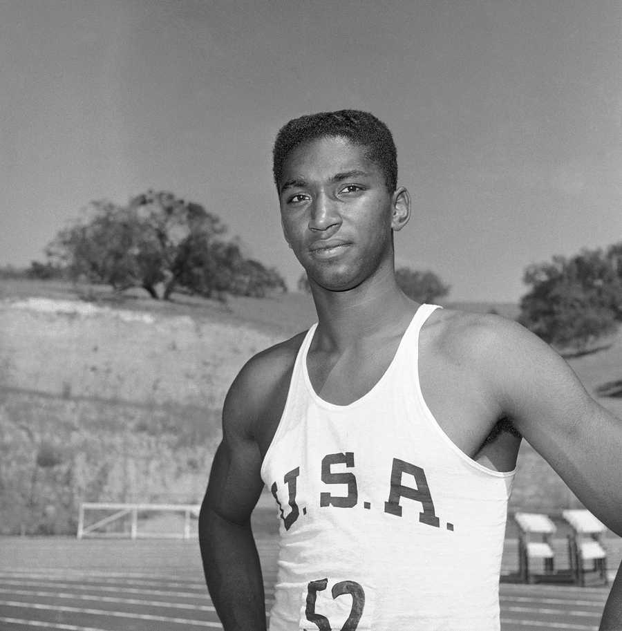 John Thomas, of Brockton, was a legendary figure in track and field and two-time Olympic medal winner. Thomas won a bronze medal in the high jump in the 1960 Olympic Games in Rome and a silver at the 1964 games in Tokyo. He was the first man to clear 7 feet indoors and made 13 world-record jumps. (March 3, 1941 – January 15, 2013)