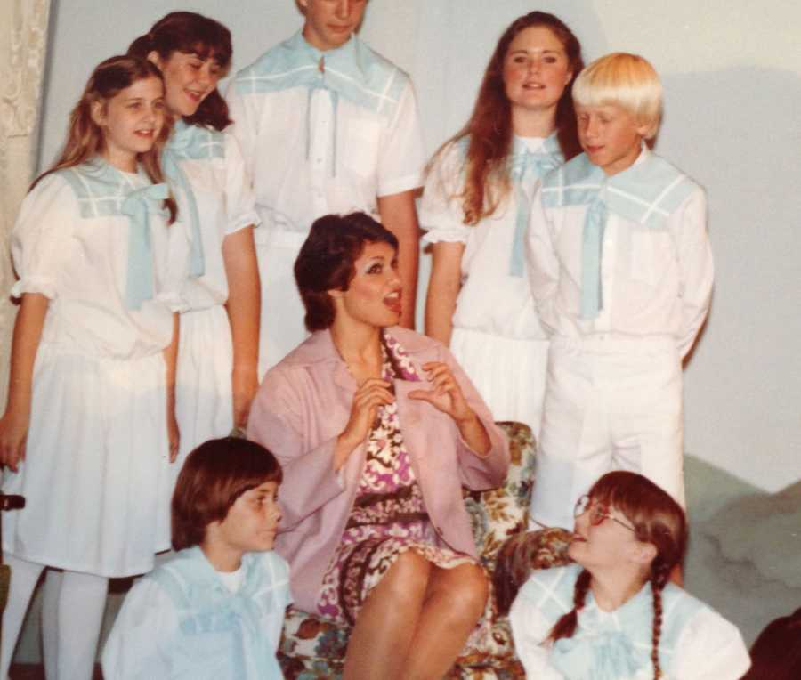 """When she was young, Liz dreamed of being either an actress, singer, dancer or an architect/designer. This is a picture of Liz playing Maria in """"The Sound Of Music."""""""