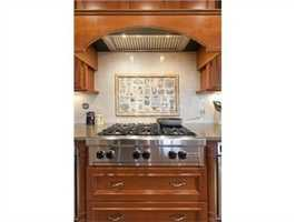 The kitchen features sate-of-the-art appliances.