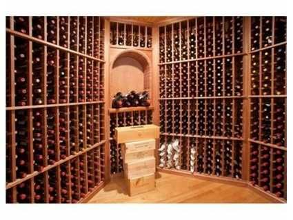Look at that wine cellar!