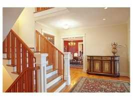 The home has tall ceilings and an airy floor plan.