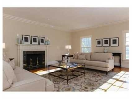 A contemporary living room.