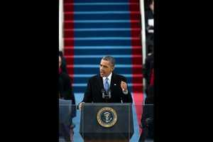 President Barack Obama delivers his Inaugural Address at the U.S. Capitol in Washington, D.C., Jan. 21, 2013.