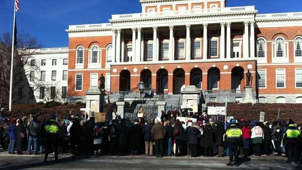 Statehouse anti gun rally