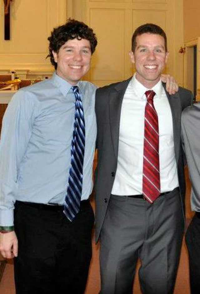 The article for the Patriot Ledger was written by Patrick Ronan, shown at left with his identical twin brother Kyle.