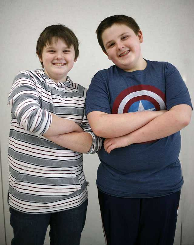 Griffin and Tom Hunt.  Twins make up more than 10% of Pembroke Community Middle School's 7th grade class.