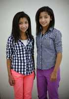 Mai and Maha Ezzeldin are one of 16 sets of twin siblings in Pembroke Community Middle School's 7th grade class.
