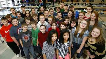 There are 16 sets of twins who, along with a set of triplets, make up more than 10 percent of the seventh-grade class at Pembroke, Massachusetts Community Middle School.