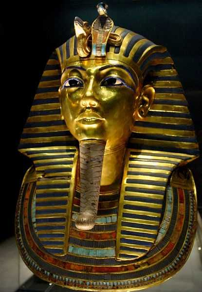 King Tut was buried in 1358 B.C. with his treasures, including hundreds of gold figurines