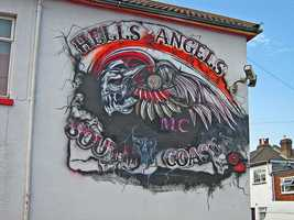 Hells Angels leader Harry Flamburis was buried with his motorcycle in 1977.