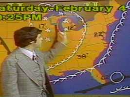 Harvey says the most memorable storm of his career was the Blizzard of 1978.