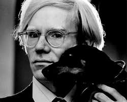 Artist Andy Warhol was buried witha bottle of Estee Lauder perfume.
