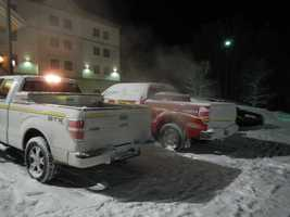 Authorities are investigating a homicide at the Hampton Inn in Littleton.