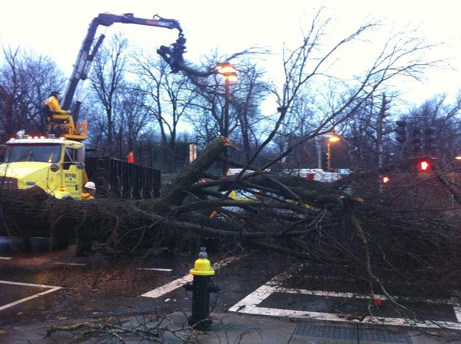 Crews work to remove the debris.