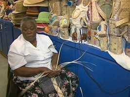 Bahamian crafts are found at the Straw Market on busy Bay Street.