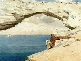 "Winslow Homer painted what had been a natural arch, and named it ""Glass Window."""