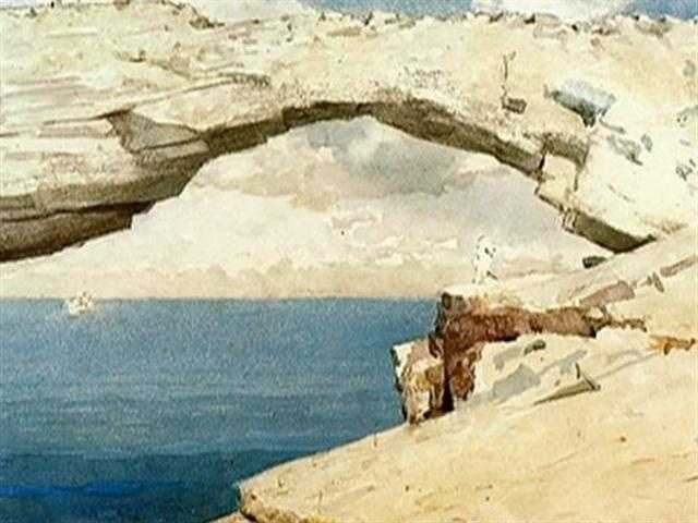 """Winslow Homer painted what had been a natural arch, and named it """"Glass Window."""""""