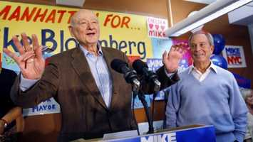 """Ed Koch was the combative, acid-tongued politician who rescued New York City from near-financial ruin during a three-term City Hall run in which he embodied New York chutzpah for the rest of the world. He typically greeted constituents with a """"How'm I doin'?"""" (December 12, 1924– February 1, 2013)"""