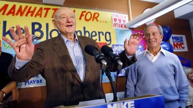 "Ed Koch was the combative, acid-tongued politician who rescued New York City from near-financial ruin during a three-term City Hall run in which he embodied New York chutzpah for the rest of the world. He typically greeted constituents with a ""How'm I doin'?"" (December 12, 1924 – February 1, 2013)"