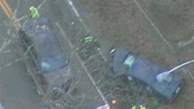 Several Babson College students were injured in a crash in Wellesley.