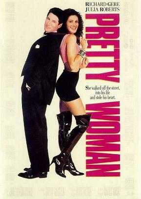 """The last scene of """"Pretty Woman"""" when Richard Gere goes up the fire escape for Julia Roberts!!"""