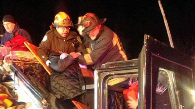 Soldiers Field Road Bus Crash Injured