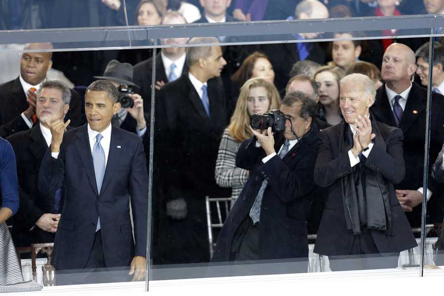"""""""I want to take a look one more time. I'm not going to see this again,"""" said President Barack Obama on Jan. 21 pausing to glance at the huge Inauguration Day crowds as he left his swearing-in."""