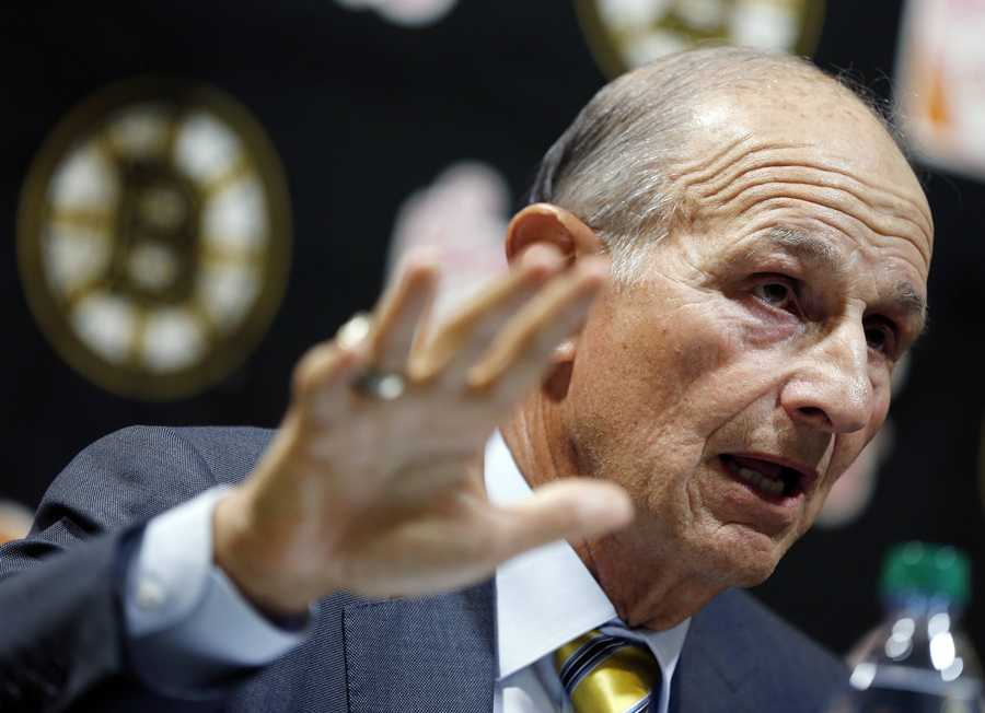 """""""I want to personally apologize to our fans and others who depend on this team for their livelihood. But these are just words. The best way to make it up to you is to play hard and win,"""" Boston Bruins owner Jeremy Jacobs said Jan. 19 before the first Bruins game after the NHL and players settled their labor dispute."""