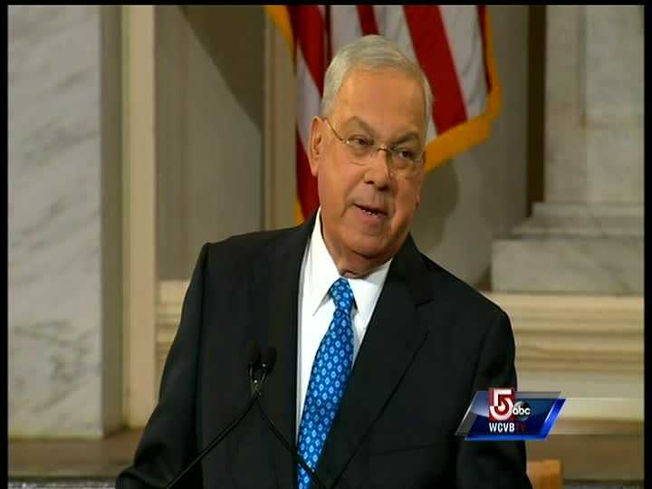 """""""I am forever grateful to my wife Angela. I ruined our trip, and she still hasn't kicked me out. She stood by me and our city like she always has."""" - Boston Mayor Thomas Menino, during the 2013 State of the City address."""